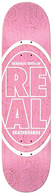 14 Real Skateboard Floral Pink Deck Design