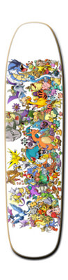 21 Pokemon Skateboard Deck Design
